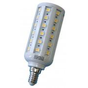 LED žiarovka E14 54×5050 9W SMD EPISTAR teplá biela