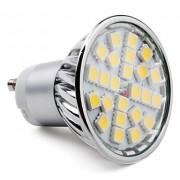 Bodová LED žiarovka GU10 24×5050 3,5W SMD EPISTAR teplá biela