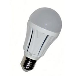 vypuklá LED žiarovka E27 30x 5630 12W SMD EPISTAR, teplá biela